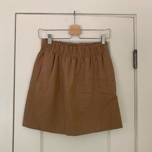 JCrew - camel skirt